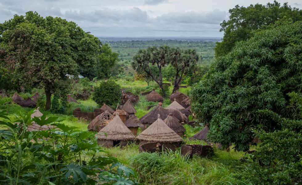 Traditional village in the Atakora region, north of Benin.
